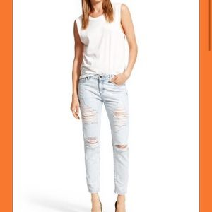 🆕. DL1961 NOLITA SLOUCHY SLIMS DISTRESSED JEANS